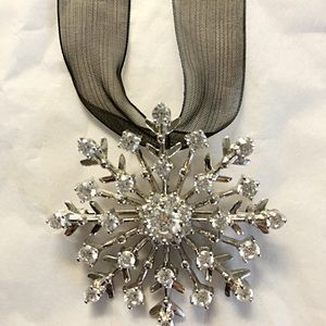 Jewelry - Sterling cubic zirconia snowflake necklace